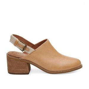 Toms Leila Leather Slingback Mule